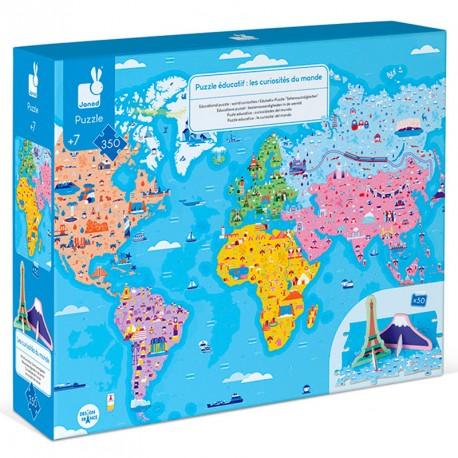 Puzzle Educativo: Curiosidades del Mundo - 350 piezas