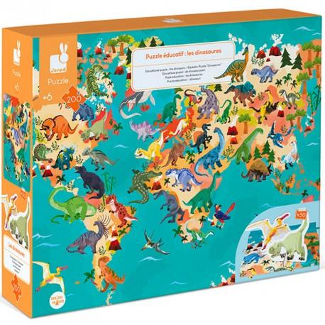 Puzzle Educativo: Dinosaurios - 200 piezas