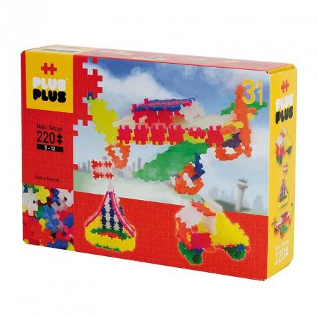 Plus-Plus Mini NEÓN 220 piezas 3 en 1 colores neón - juguete de construcción