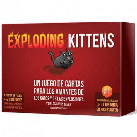 Exploding Kittens - juego de cartas para 2-5 jugadores