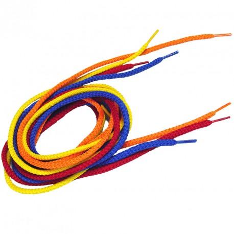 Cordones trenzados Arco Iris