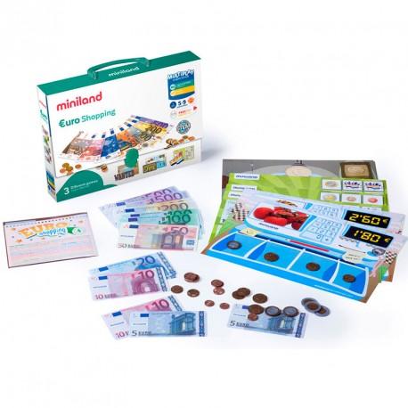 Maletín Euro Shoping Miniland - jugar con dinero
