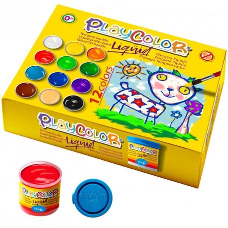 6 PlayColor Liqüid 40ml colors bàsics - Témpera líquida