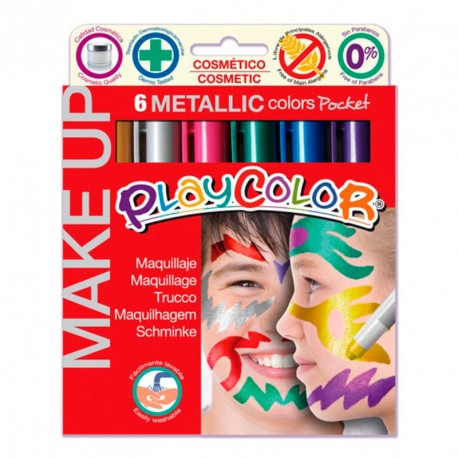 Maquillaje PlayColor - 6 colores básicos