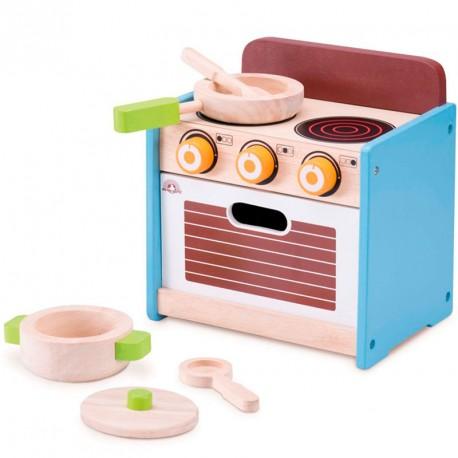 Mini cocina de madera con horno - juego simbólico