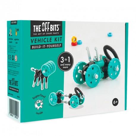 OFFBITS Kit Vehículo 3 en 1 con SuperTool Buggybit- juguete de construcción con piezas de repuesto
