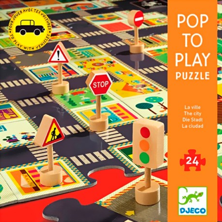 Puzle Gegant Pop to Play La Ciutat - 24 pces.