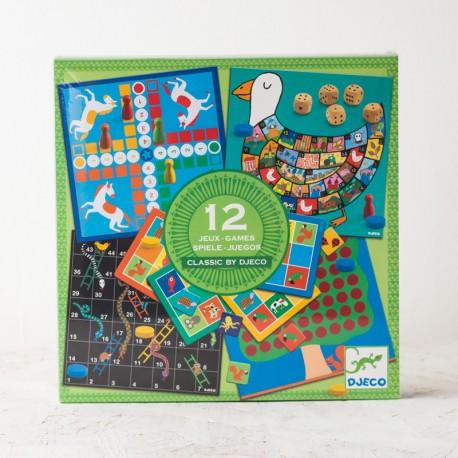 12 jocs clàssics amb disseny infantil