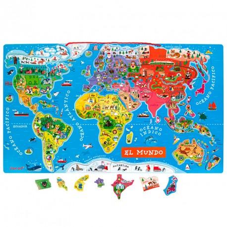 Puzle Mapa del Món Magnètic versió castellà