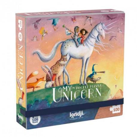 Puzle de butxaca El meu Unicorn - 100 peces .