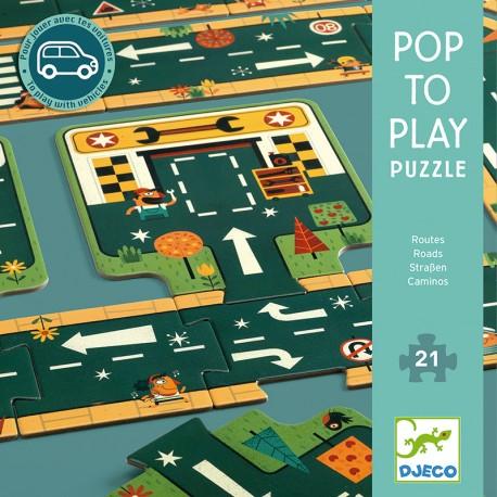 Puzzle gigante Pop to Play Carreteras - 21 pzas.