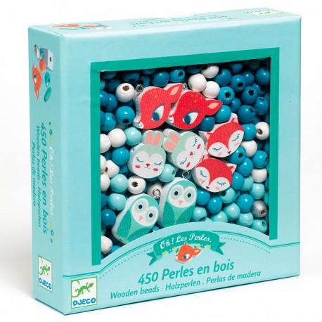 Perles i Cubs - Peces de fusta per a enfilar