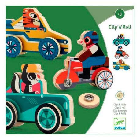Clip'n'Roll - vehícles de fusta per muntar