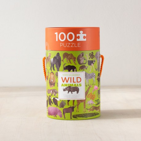 Puzzle Thirty Six Animales salvajes - 100 pzas.