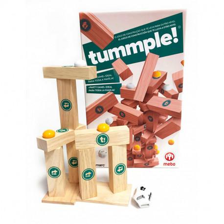 tummple! - juego familiar de construcción de madera