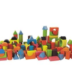 Bloques de madera 75 piezas