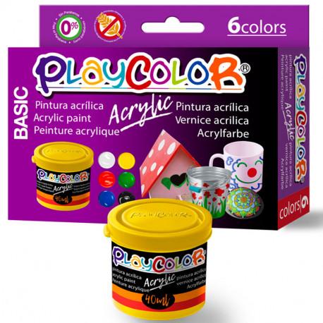 6 PlayColor Acrylic 40ml colors bàsics - Pintura acrílica