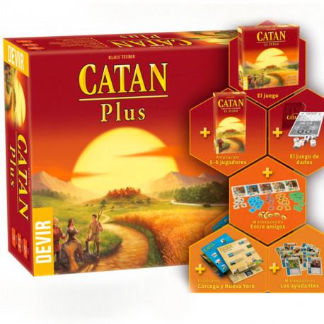 Els Colones de Catan Plus ED.2019 - Joc d'estratègia per a 3-6 jugadors, bàsic i ampliacions