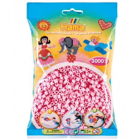 3000 perles Hama Midi rosa pastel (bossa)