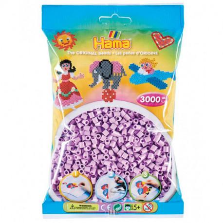 3000 perlas Hama Midi lila pastel (bolsa)