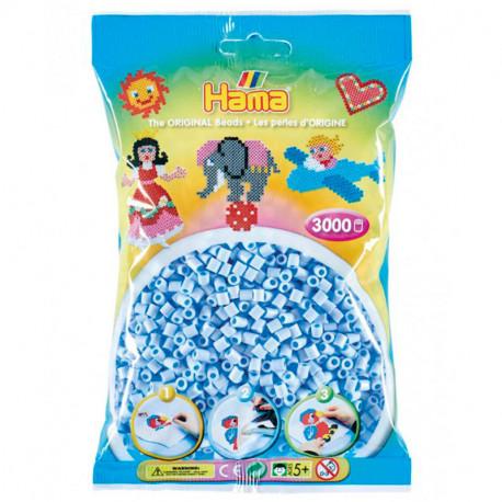 3000 perlas Hama Midi azul hielo pastel (bolsa)