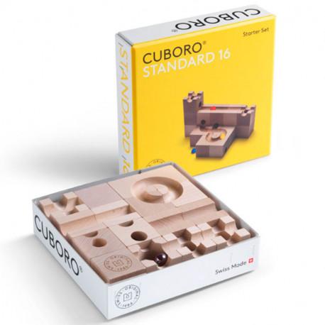 cuboro STANDARD 16 - Caja de iniciación con 16 bloques