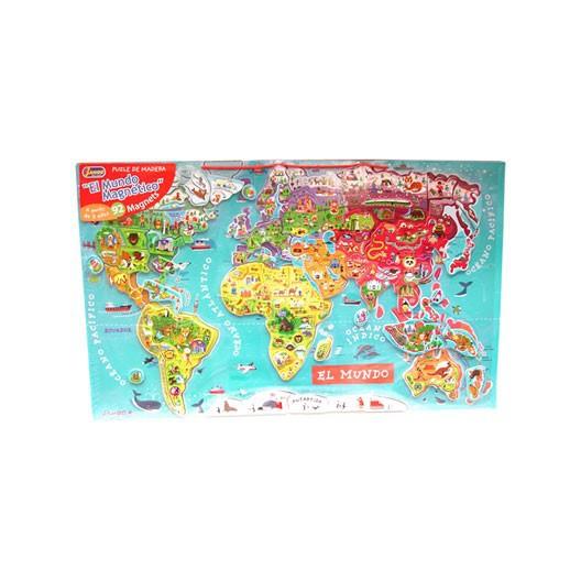 Puzzle Mundo Magnético versión Español