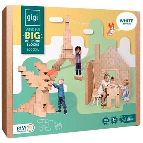 GIGI BLOKS XXL - sistema creativo de 100 bloques de construcción de cartón