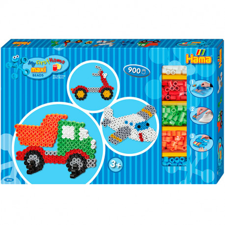 Les meves Primeres Hama Beads Maxi - Caja regalo Avió i Camió