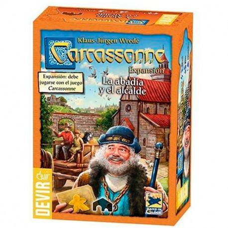 Carcassonne expansión La Abadía y el Alcalde Edición 2017- Juego de estratégia