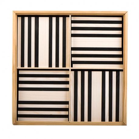 """KAPLA 100 piezas """"Blanco y Negro"""" - placas de madera de construcción"""
