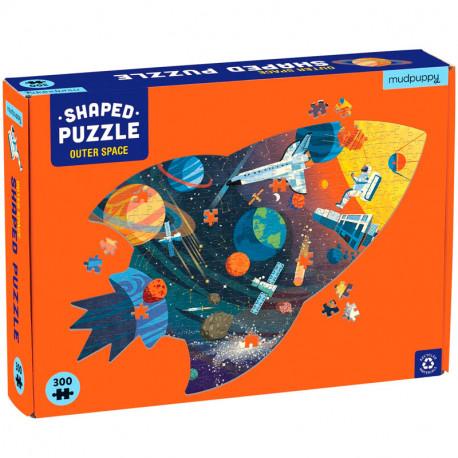 Puzzle Silueta Cohete Outer Space - 300 pzas.