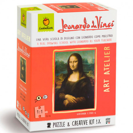 Art Atelier Leonardo da Vinci - Kit Creativo + Puzzle de 252 piezas