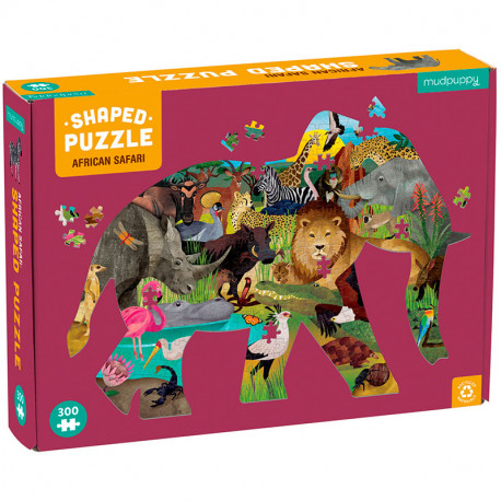 Puzzle Silueta de Elefante African Safari - 300 pzas.
