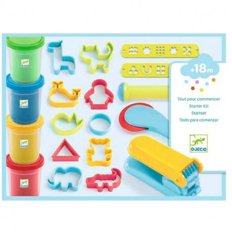 Plastilina Ligera todo para comenzar caja azul y estuche con accesorios