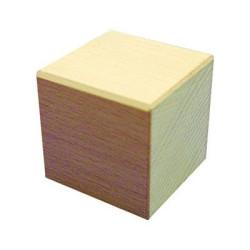 Cubo 50x50x50mm Bloque de madera de construcción