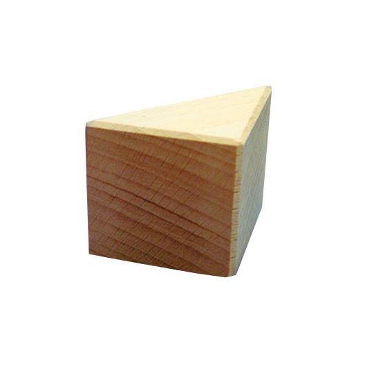1/2 cubo triángulo 50x50x70mm Bloque de madera de construcción