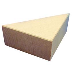 Triángulo grande 50x100x140mm Bloque de madera de construcción