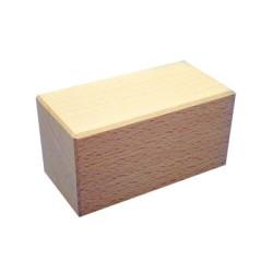 Doble cubo 50x50x100mm Bloque de madera de construcción
