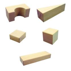 11 bloques de construcción, diferentes medidas