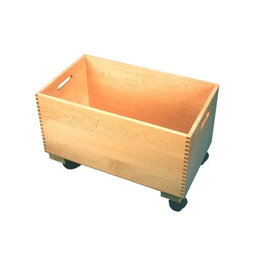 Container machihembrado vacío con ruedas para 300 cubos