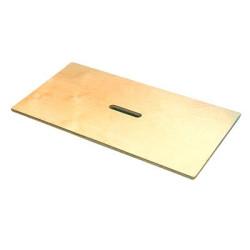 Tapa de madera de haya maciza para contenedor y cajas