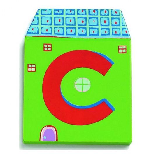 Letra casita - C
