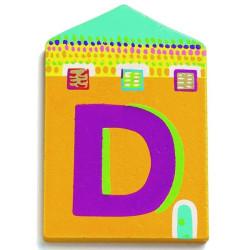 Letra casita - D