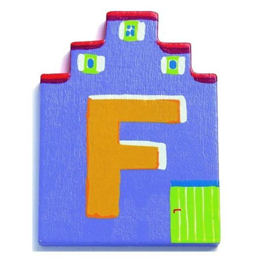 Letra casita - F