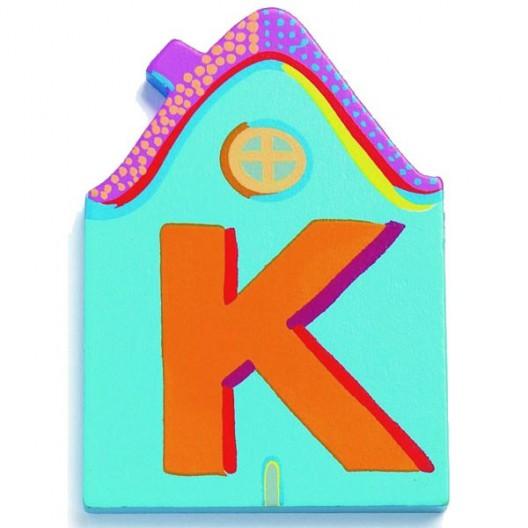 Letra casita - K