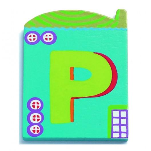 Letra casita - P
