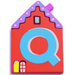 Letra casita - Q