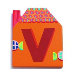 Letra casita - V