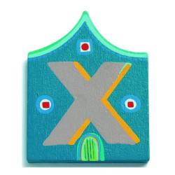 Letra casita - X